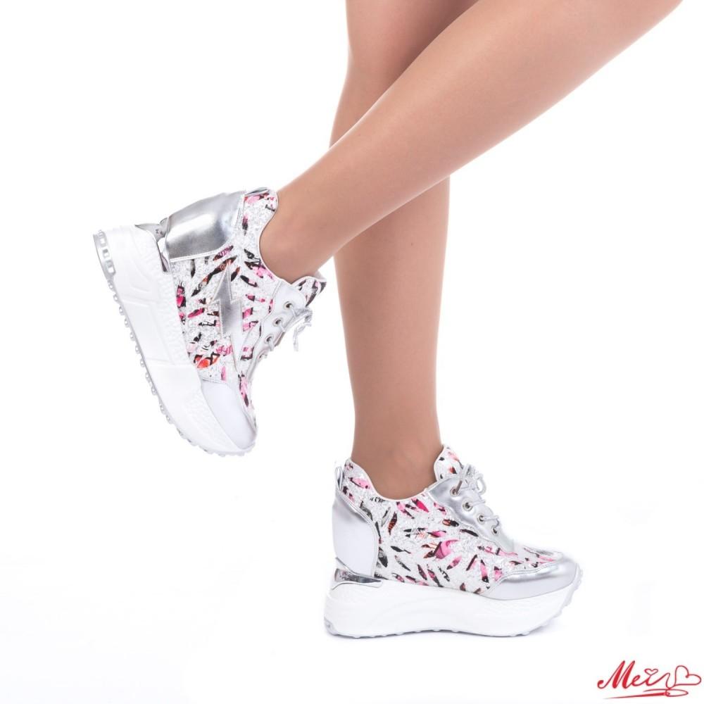 Pantofi Sport Dama cu Platforma SJN139 Silver Mei