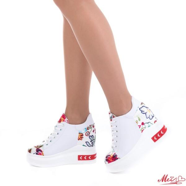 Pantofi Sport Dama cu Platforma SJN150 Red Mei