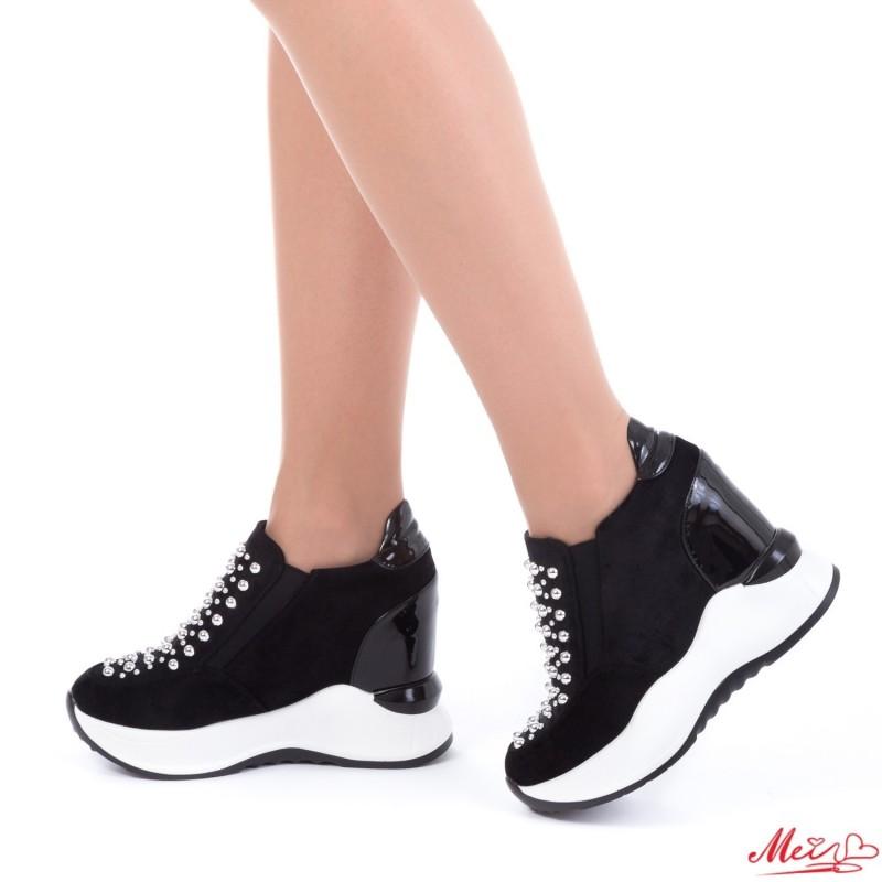 Pantofi Sport Dama cu Platforma SJN152 Black Mei