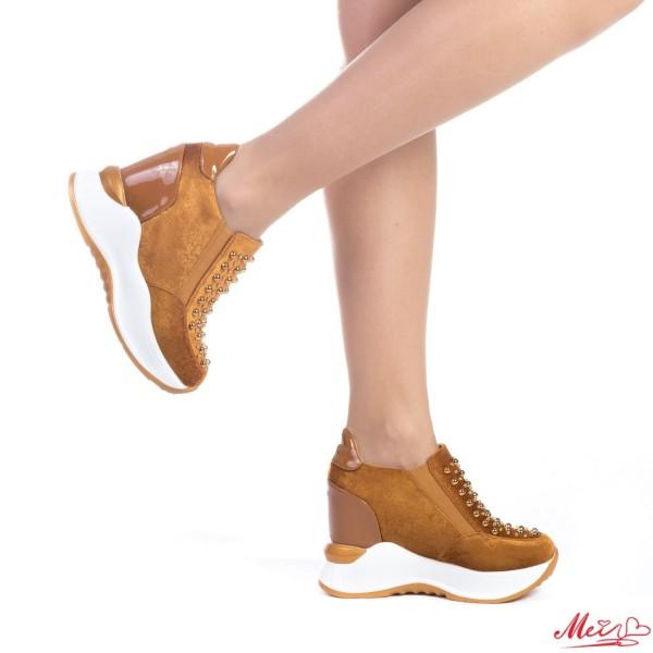 Pantofi Sport Dama cu Platforma SJN152 Camel Mei