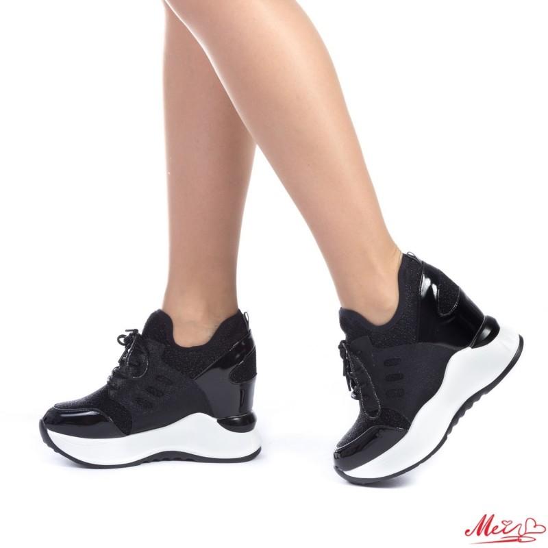 Pantofi Sport Dama cu Platforma SJN153 Black Mei