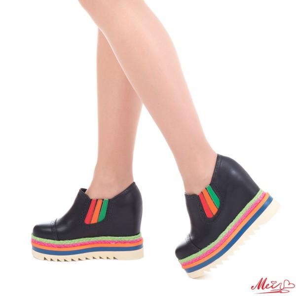 Pantofi Sport Dama cu Platforma SJN157 Black Mei