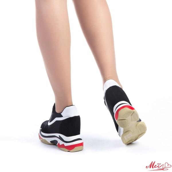 Pantofi Sport Dama cu Platforma SJN159 Black-White Mei
