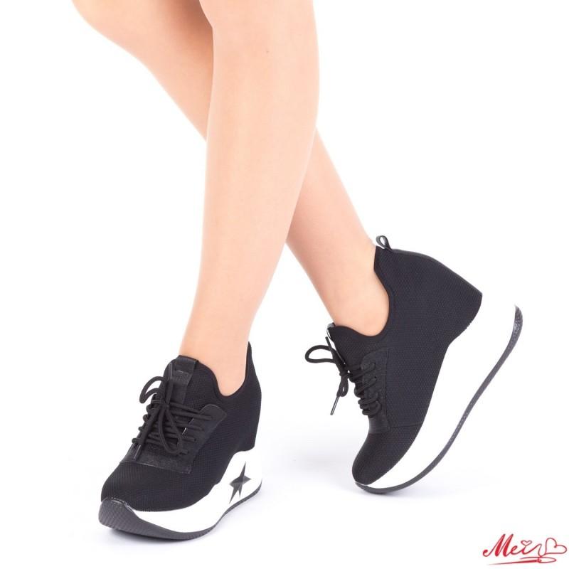 Pantofi Sport Dama cu Platforma SJN161 Black Mei