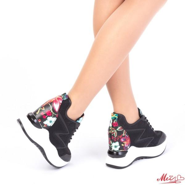 Pantofi Sport Dama cu Platforma SJN163 Black Mei