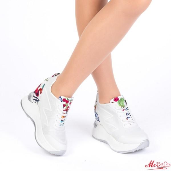 Pantofi Sport Dama cu Platforma SJN163 White Mei