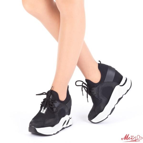Pantofi Sport Dama cu Platforma SJN165 Black Mei