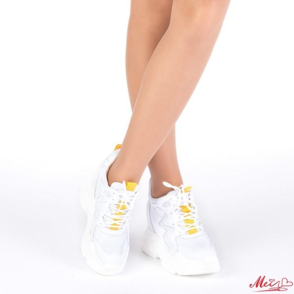 Pantofi Sport Dama cu Platforma SJN166 White Mei