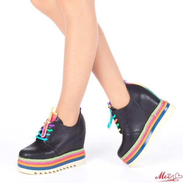 Pantofi Sport Dama cu Platforma SJN170 Black Mei
