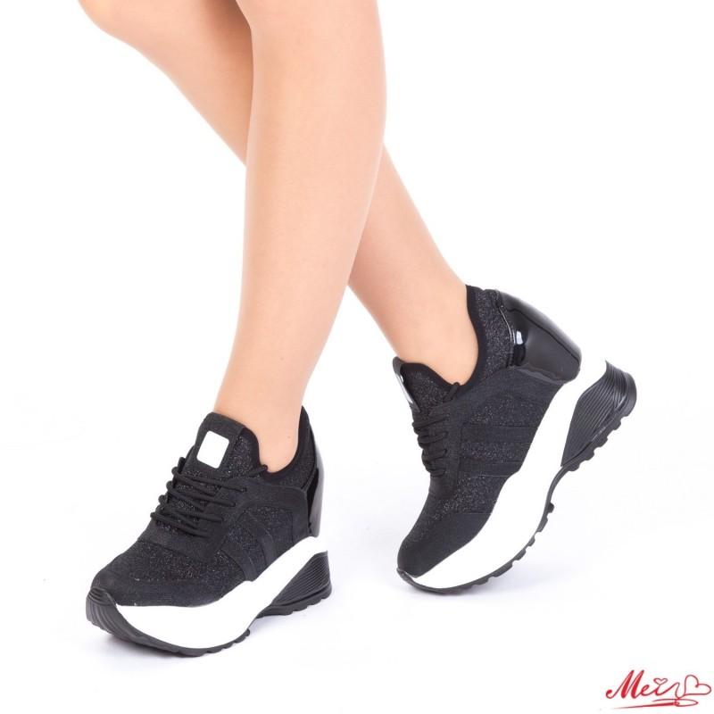 Pantofi Sport Dama cu Platforma SJN171 Black Mei