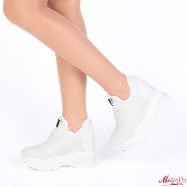 Pantofi Sport Dama cu Platforma SJN171 White Mei