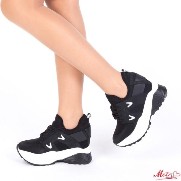 Pantofi Sport Dama cu Platforma SJN172 Black Mei
