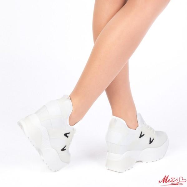 Pantofi Sport Dama cu Platforma SJN172 White Mei