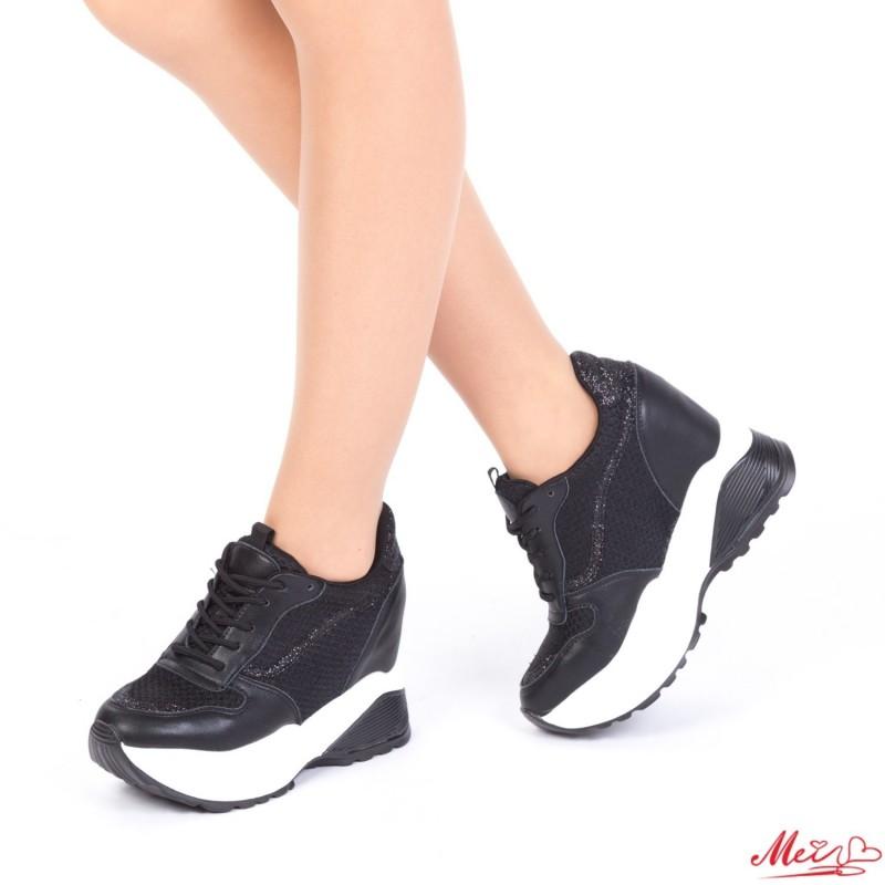 Pantofi Sport Dama cu Platforma SJN173 Black Mei