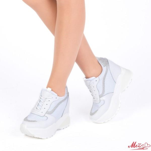 Pantofi Sport Dama cu Platforma SJN173 White Mei