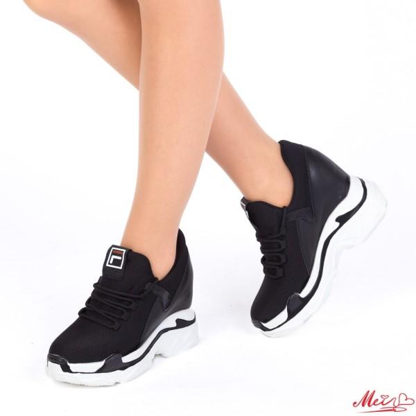 Pantofi Sport Dama cu Platforma SJN175 Black Mei