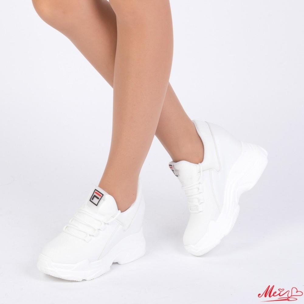 Pantofi Sport Dama cu Platforma SJN175 White Mei