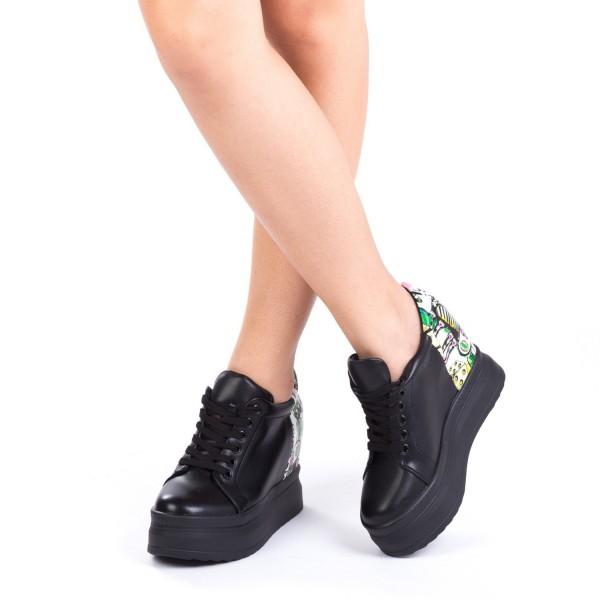 Pantofi Sport Dama cu Platforma SJN31 Black Mei