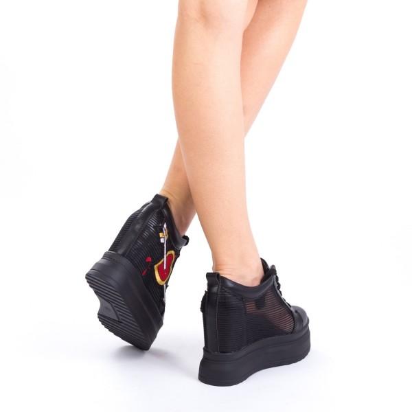 Pantofi Sport Dama cu Platforma SJN52 Black Mei