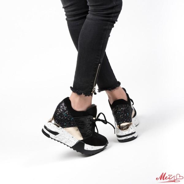Pantofi Sport Dama cu Platforma SJN66 Black Mei