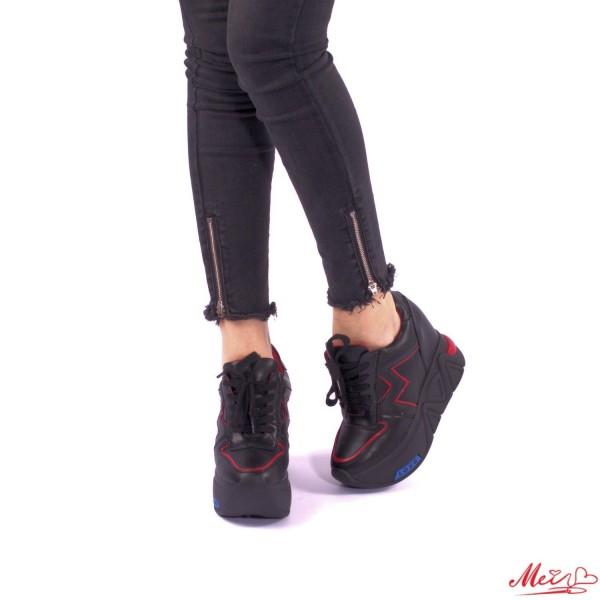 Pantofi Sport Dama cu Platforma SJN68 Black Mei