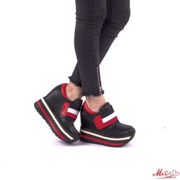 Pantofi Sport Dama cu Platforma SJN69 Black Mei