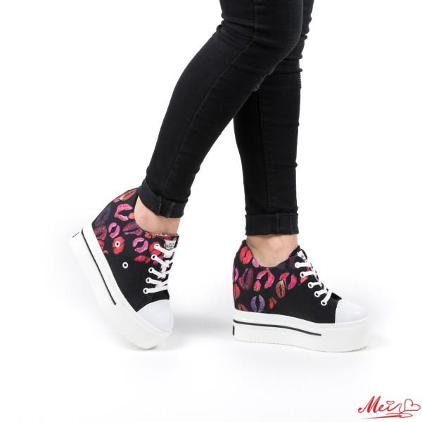 Pantofi Sport Dama cu Platforma SJN70 Black Mei
