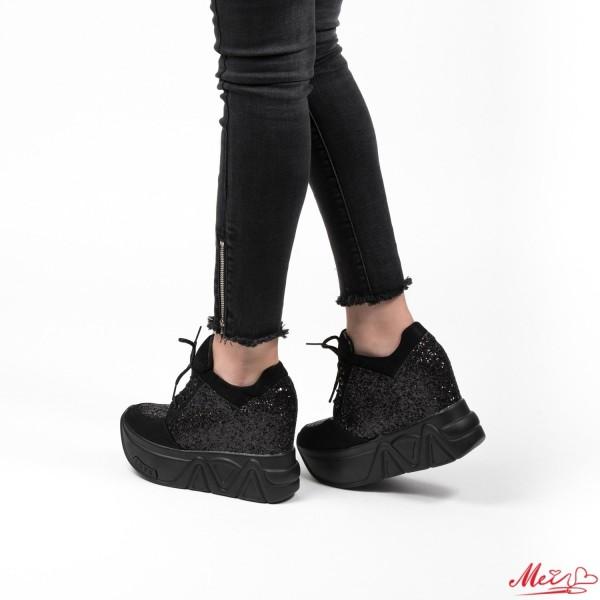 Pantofi Sport Dama cu Platforma SJN79 Black Mei