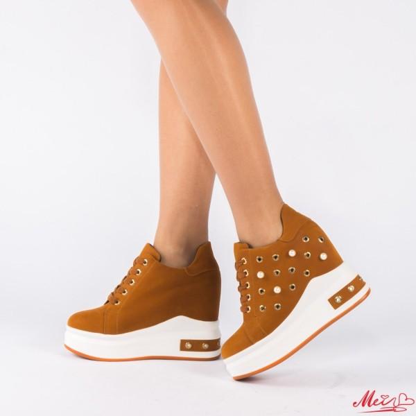 Pantofi Sport Dama cu Platforma SJN85 Yellow Mei