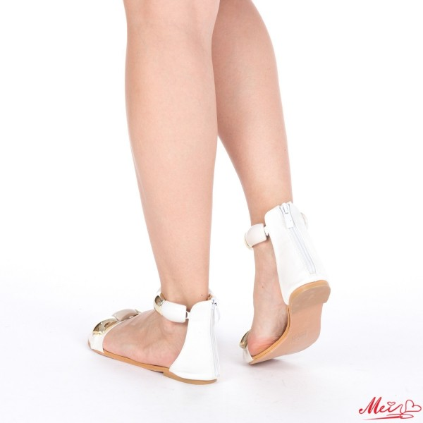 Sandale Dama SM62 White Mei