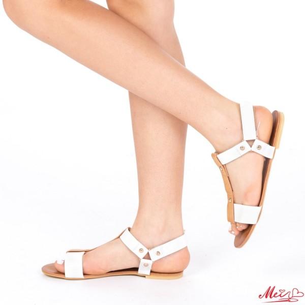 Sandale Dama SM68 White Mei