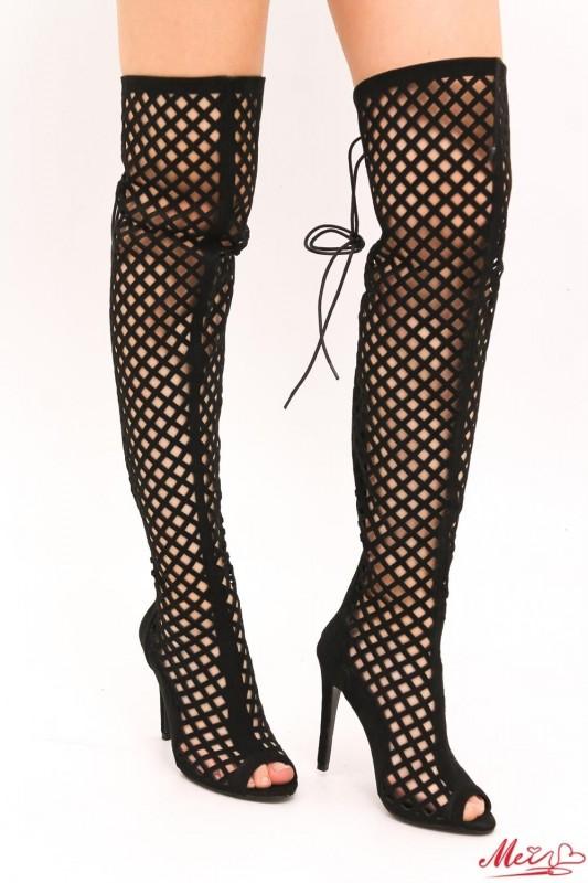 Cizme Dama cu Toc SYX1 Black Mei