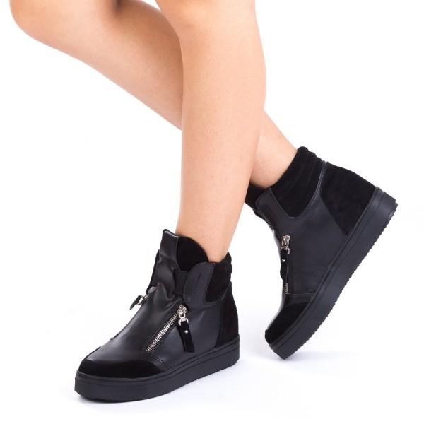 Pantofi Sport Dama cu Platforma SZ03 Black Mei