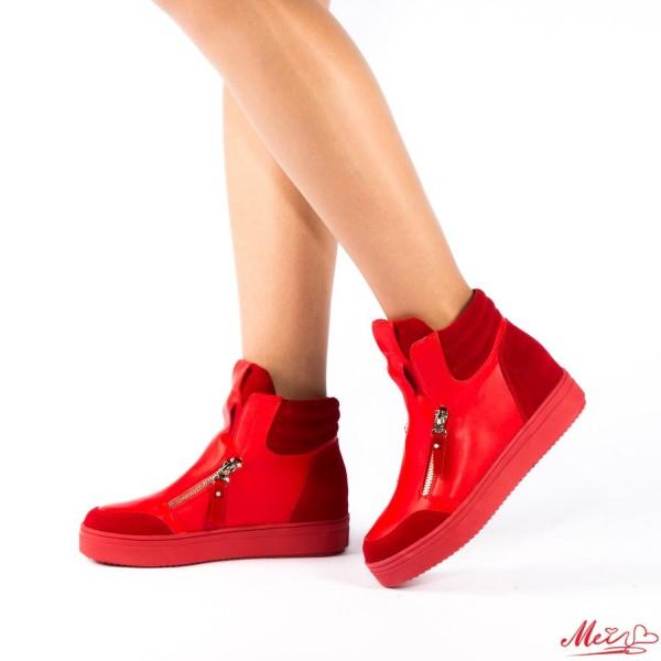Pantofi Sport Dama cu Platforma SZ03 Red Mei