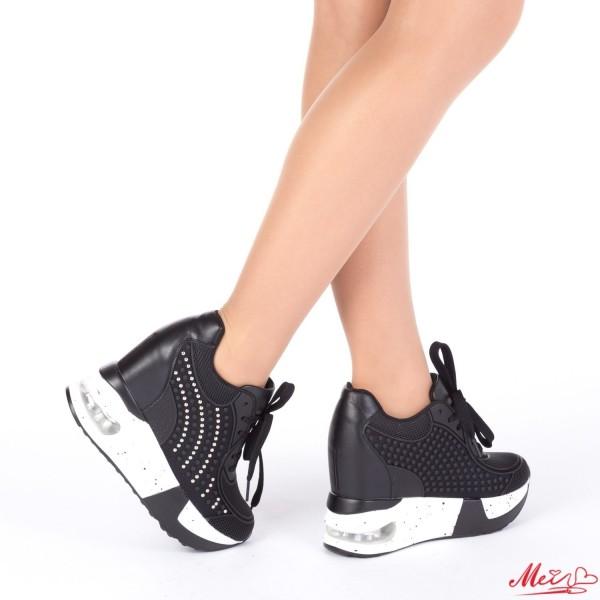 Pantofi Sport Dama cu Platforma SZ106 Black Mei