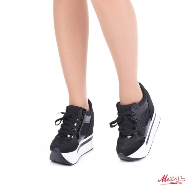 Pantofi Sport Dama cu Platforma SZ110 Black Mei