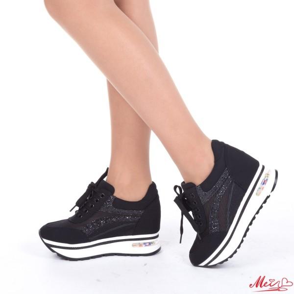 Pantofi Sport Dama cu Platforma SZ113 Black Mei