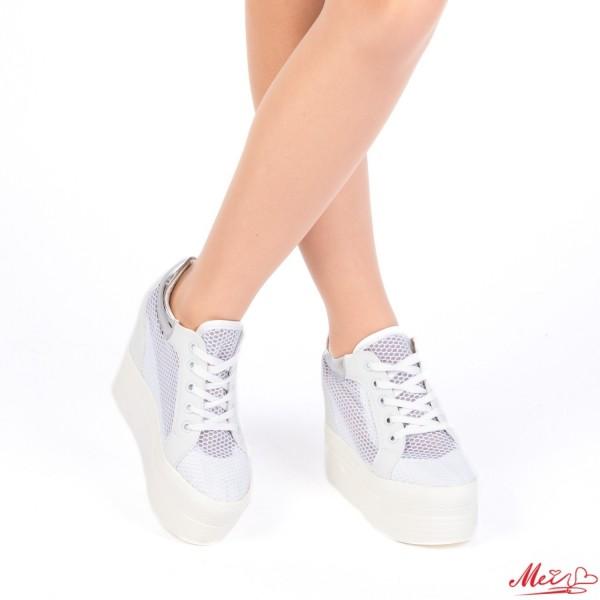 Pantofi Sport Dama cu Platforma SZ51 White Mei