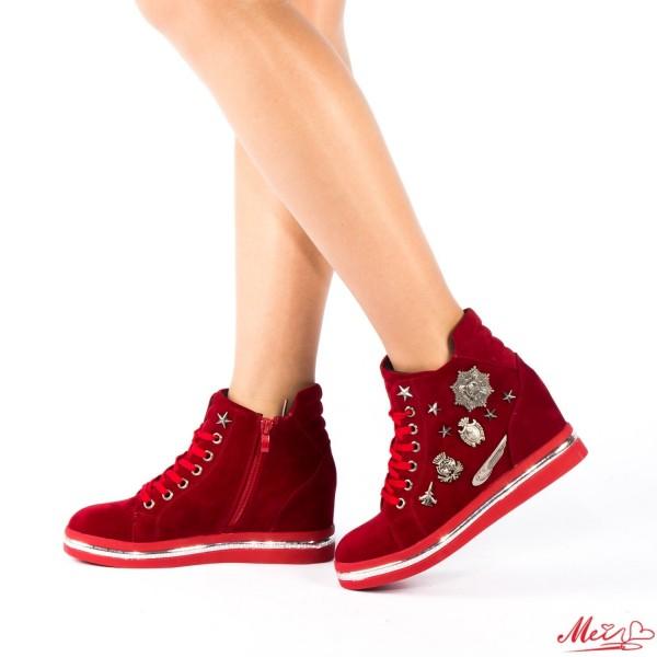 Pantofi Sport Dama cu Platforma SZ70 Red Mei