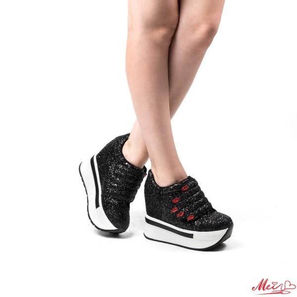 Pantofi Sport Dama cu Platforma SZ75 Black Mei