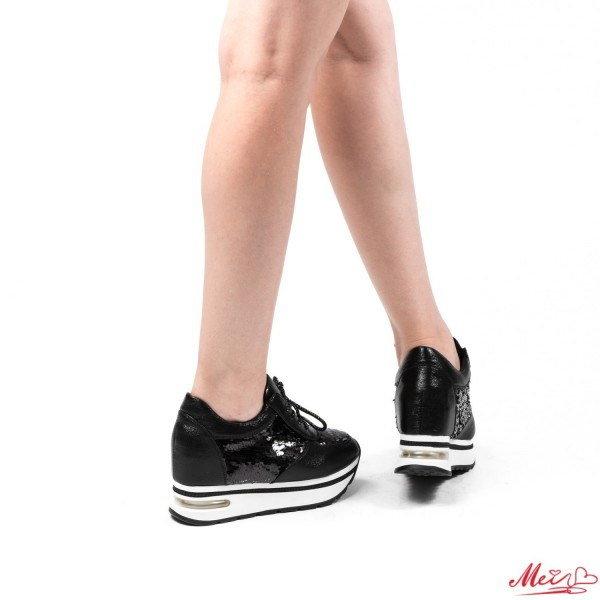 Pantofi Sport Dama cu Platforma SZ82 Black Mei