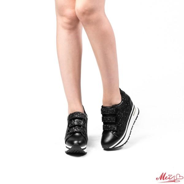 Pantofi Sport Dama cu Platforma SZ83 Black Mei