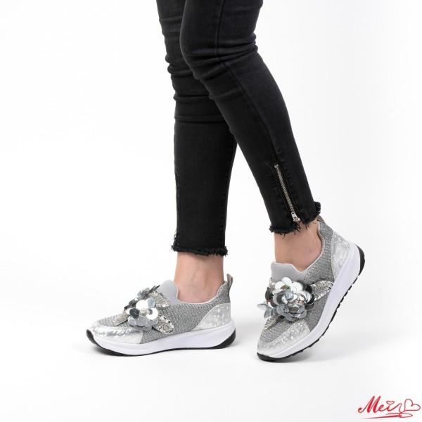 Pantofi Sport Dama WH06 Silver Mei