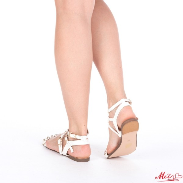Sandale Dama WH1008 White Mei