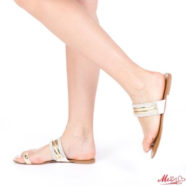 Papuci Dama WH1022 White Mei