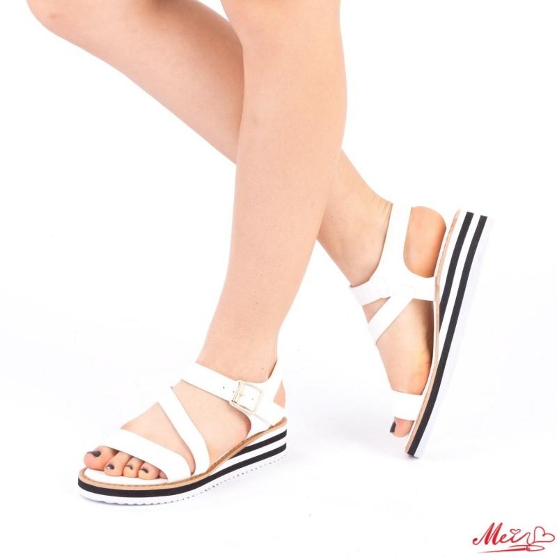 Sandale Dama WS78 White Mei