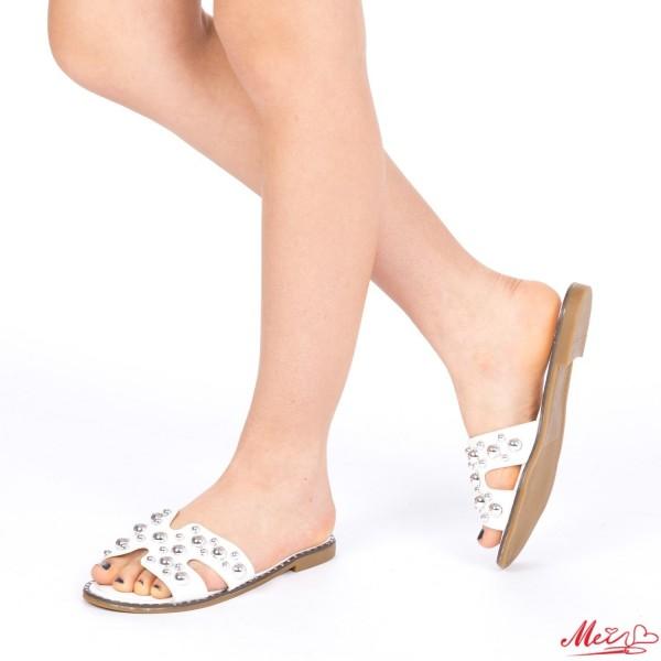 Papuci Dama WS82 White Mei