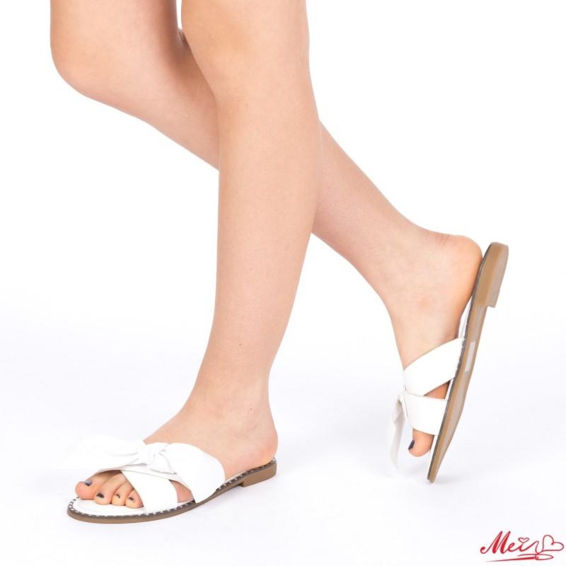 Papuci Dama WS87 White Mei