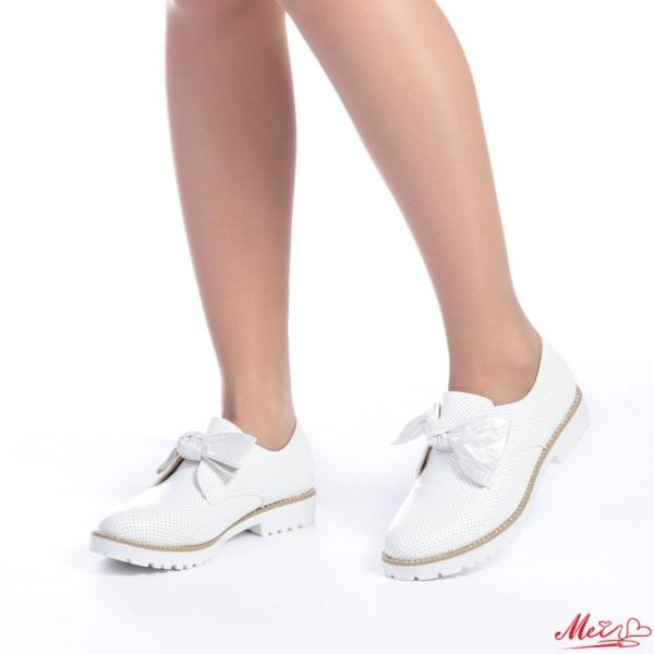 Pantofi Casual Dama WT12 White Mei