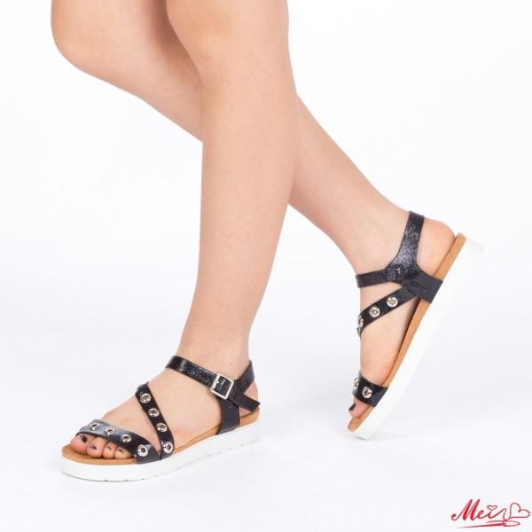 Sandale Dama cu Toc WT16 Black Mei